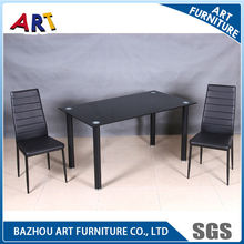 Vidro mesa de jantar conjunto, sala de jantar conjunto, moderno conjunto de jantar