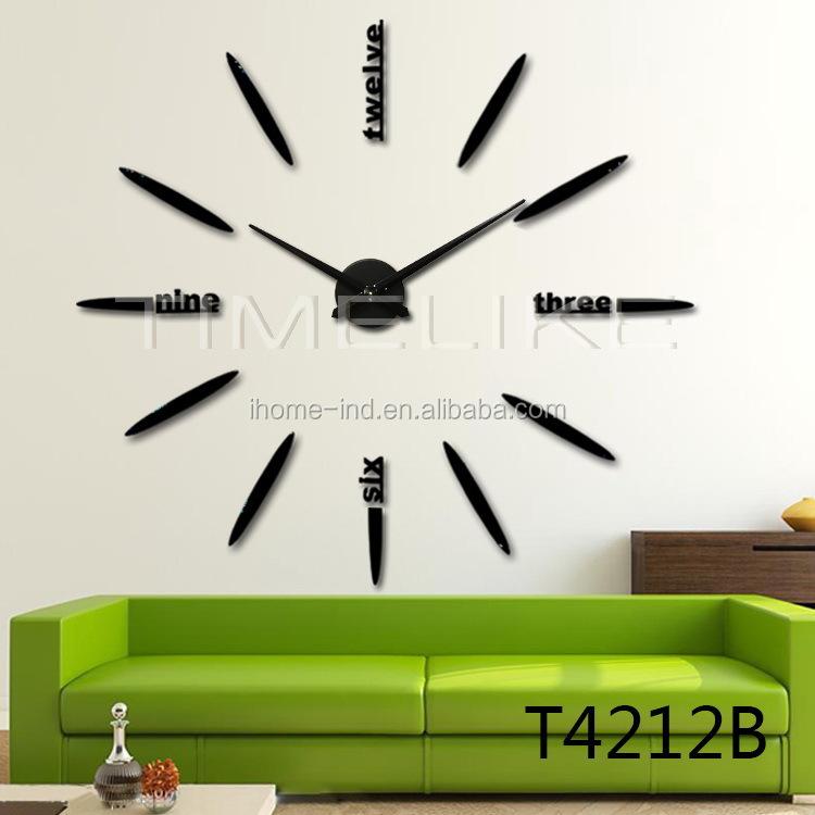 100cm gro e dekorative morrior diy wand uhr f r wohnkultur. Black Bedroom Furniture Sets. Home Design Ideas