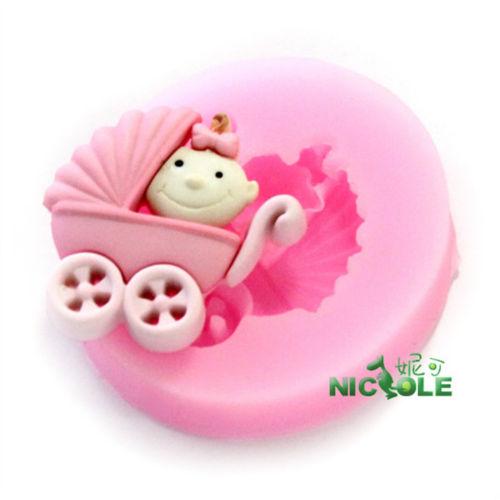 how to make a baby carriage cupcake cake