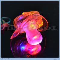 Plastic light up multi-color led pacifier