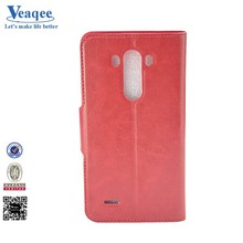 Veaqee 2015 new products mobile flip leather cover case for lg g3