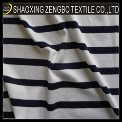 2014 Knitted yarn dye fluorescence fabric korean fashion,fabric cotton blue and white striped
