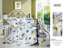 Clean and Elegant Color design Jacquard cotton bed sheet set 60S Queen
