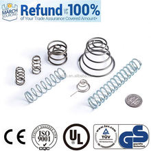 support small lot order spring steel round bar conical helical spring radio car
