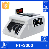 Automatic portable money counter with money value