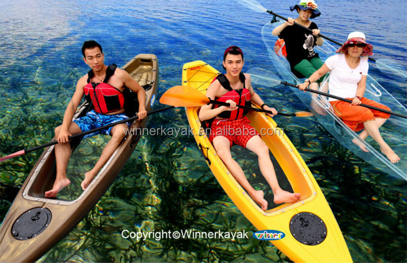 2014 Newest design clear kayaks from Winner brand in China