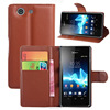 Card holder mobile phone rock leather case for sony z3 compact