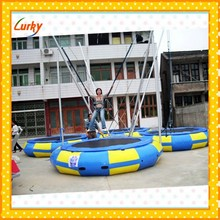 High quality outdoor sports 4*1 bungee trampoline affording four passengers for sale
