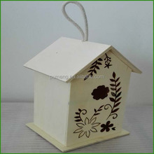 Wholesale Art And Craft Wooden Bird Hhouse Model Toys For Kids