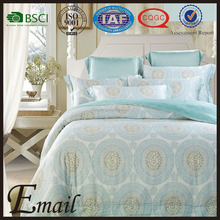 Floral printed duvet cover sets Upscale fabric brand name for home tencel bedding set