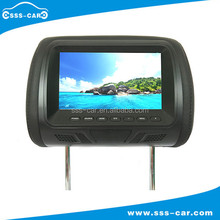 Universal removable 7'' tft lcd 12v car headrest pillow monitor