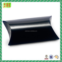 Black Shine Lamination Paper Pillow Jewelry Packaging Boxes Wholesale