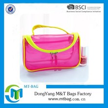 Top selling fashion lady daily use cosmetic bag PVC bag transparent toiletry bag