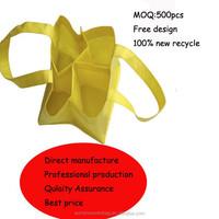 non-woven 4 bottles wine glass carrier bag