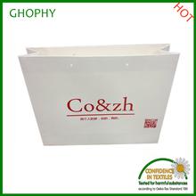 white shopping paper bag custom logo printed paper bag