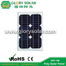 low iron glass sunpower solar panel 15W for lamp