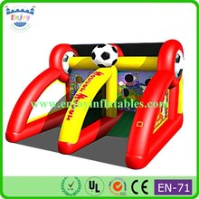 2015 Enjoy Double Hoop Basketball Game, Soccer Fever Inflatable Game, sport inflatable shooting game