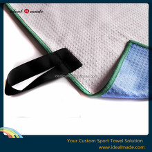 Golf towel for golfer white with grommet hole