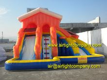 Airtight company hot sale inflatable slide with pool