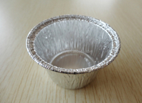 Y40035 China factory rock bottom price round aluminium foil cup for egg tart bakery baking