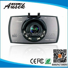 2015 hot sell 2 channel 2.7inch car camera hd dvr Full HD 1080P with motion detection