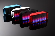 Hot sale LED FLASH Dancing Protable Mini Bluetooth speaker Big Sound Bluetooth Speaker For Mobile phone PC with Hands-free Call