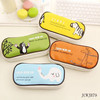 Korean Cute PU Leather Large Pencil Case Cartoon Stationery Bags