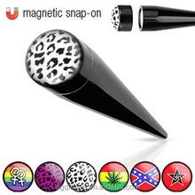 UV Fake Expander Taper Magnet Ear Plugs