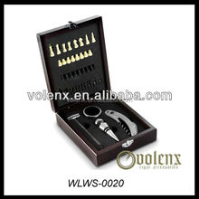 Wine set, aluminum electric wine opener with wine pourer, leather case