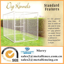 portable outdoor single galvanized chain link dog kennel enclosure fence