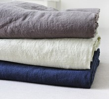 linen cotton simple fashion super soft high quality solid blanket