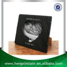 Factory Direct Price 24*19cm Handmade Decorative Natural Customized Laser Design Slate Antique Photo Frames