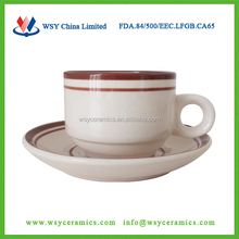 personalized stoneware tea cup and saucer set with low price