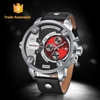 WEIDE High Quality Business Quartz Genuine Leather Strap Watch
