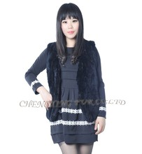 CX-G-B-261 High Quality Rex Rabbit Fur Vest & The Latest Women Fashionable Clothes/Fur Coat For Women