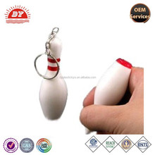 OEM Manufactuter bowling pin pen keychain for wholasale