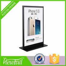 Fantastic style premium universal retail shop advertising display sign holder for shop and hotel