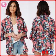 2015 Wholesale Fashion Women Clothes For Women Kimono Cardigan