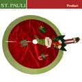 Único de fieltro navidad decoración elfos falda del árbol de navidad