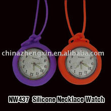 Serviceable promotional silicone necklace watch for nurse lady