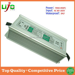 sample free constant current 1500ma 70W(14S5P) ip67 waterproof led driver for roadlamps