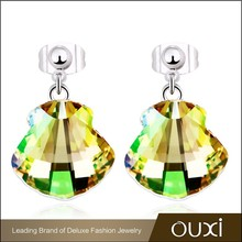 2015 New design shell shape earrings made with Swarovski elements