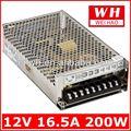 Ce y rohs aprobados s-200-12 200w 110v 220v 12v de transformador