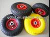 Wholesale 4.00-8 PU foam wheel air wheel solid wheel for wheelbarrow