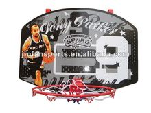 Wall mounted basketball backboard for kids