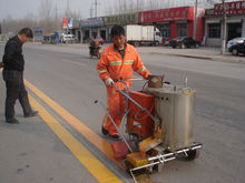 Hand-push Thermoplastic Road Marking Equipment For Road Paint