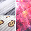 Printed vertical stripes knit textile fabric