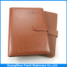 pu leather daily planner journal notebook with debossing