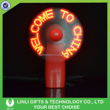 Wholesale Led Customized Fan With Slogan,Led Custom Message Fan