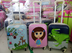 2015 2016 popular lovely kids trolley case bag and backpack for children hard shell
